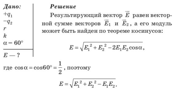 Результирующий вектор равен векторной сумме векторов